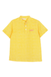 Yogi Kurta Yellow Check