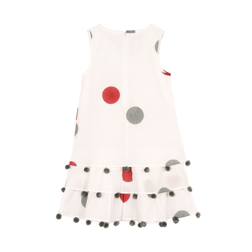 Chavi Red Frill and Flayered dress