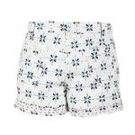 Moha Shorts - Floral Checks - Blue