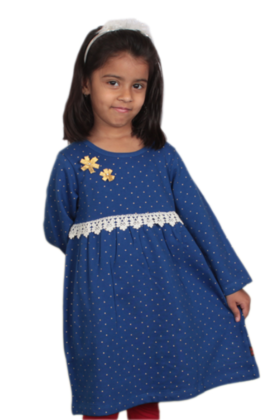 Crochet Lace Dress Blue