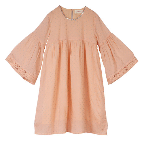Rihanna Dot Girls DRess Peach