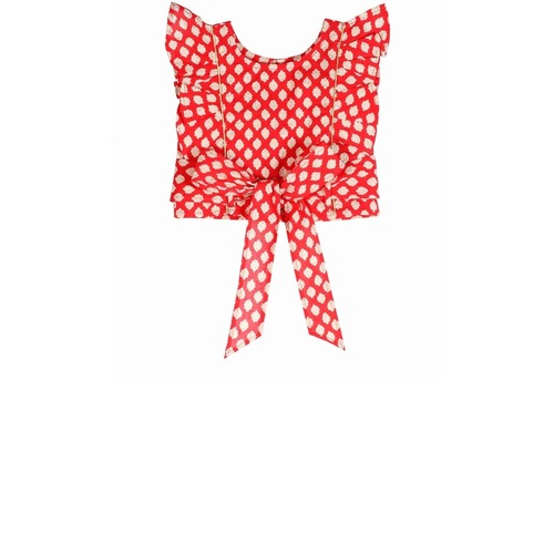 Hema Buti Top - Red