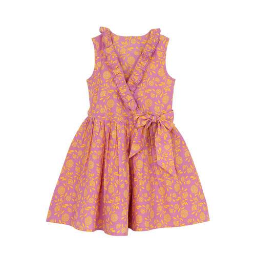 Garima Purple printed Wrap dress