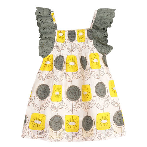 Malti Baby Dress Yellow