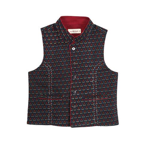 Bagru Kantha Nehru Jacket
