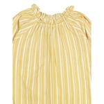 French yellow full sleeve night dress