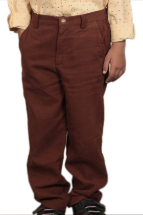 Boy's Cord Pants Brown