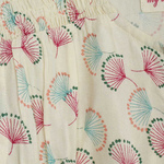 Nammy Girls Dress Beige Feather Print