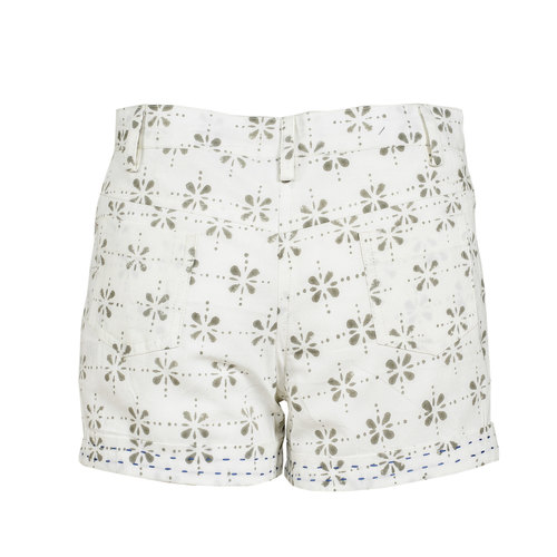 Moha Shorts - Floral Checks - Taupe