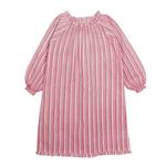 French pink full sleeve night dress
