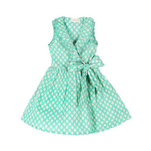 Garima Dress Aqua Buti