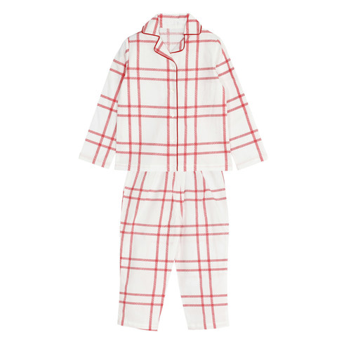 Boys Red Check Night SUit