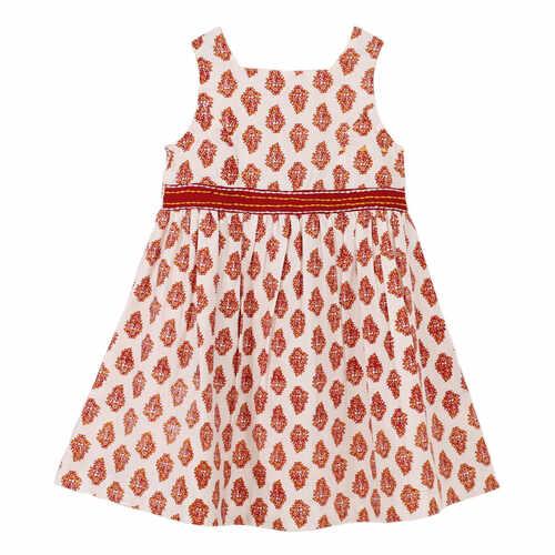 Garden Buti Dress Red