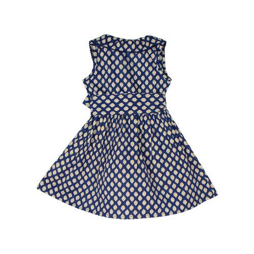Garima Navy printed Wrap dress