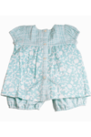 Ethnic Print Baby Top Blue + Bloomers