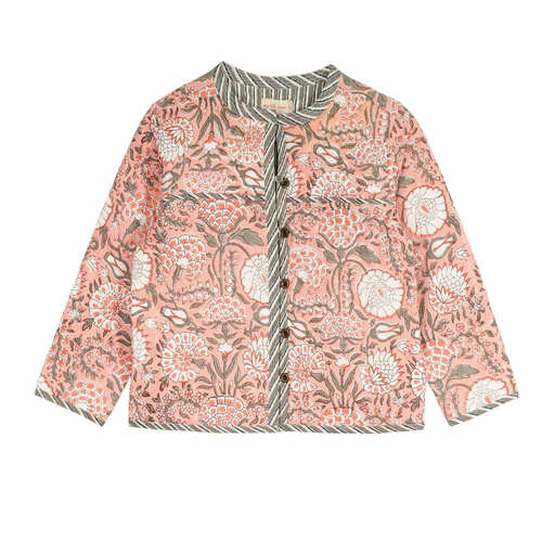 Quilted Reversible Jacket Peach