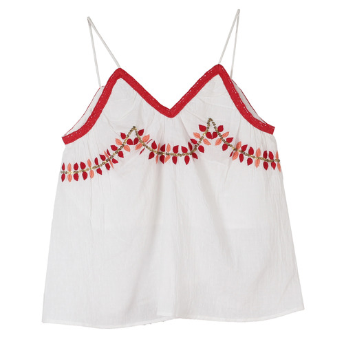 Leaf Embroidery Girls Top