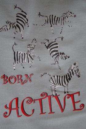 Zebra Tee Grey