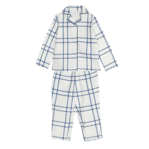 Boy's Blue Check Night Suit