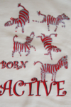 Zebra Tee Off White