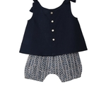 Lulu Baby Top Set Navy