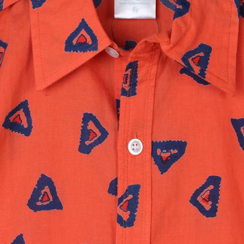 Ikkat Shirt Orange