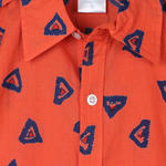 Ikkat Shirt Orange