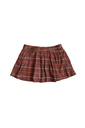 Check Skirt Brown