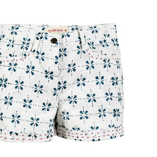 Moha Shorts - Floral Checks - Blue
