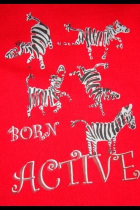 Zebra Tee Red