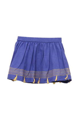 Embroidered Skirt Blue