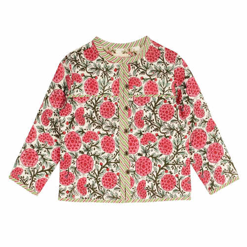 Quilted Reversible Jacket Pink Poppy