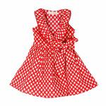Garima Red printed Wrap dress