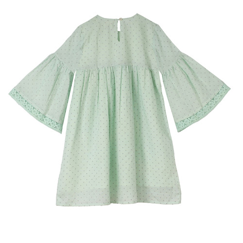 Rihanna Dot Girl's Dress Aqua