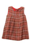 Check Dress Brown