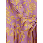 Garima Purple printed Wrap dress