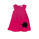 Star Patch Dress Pink