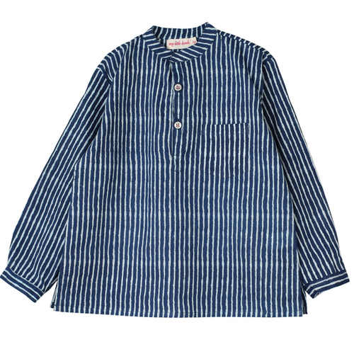 Indigo Striped Kurta Pyjama Set