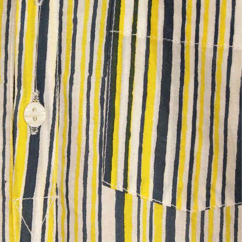 Striped Navy- Yell Kurta PJ Set