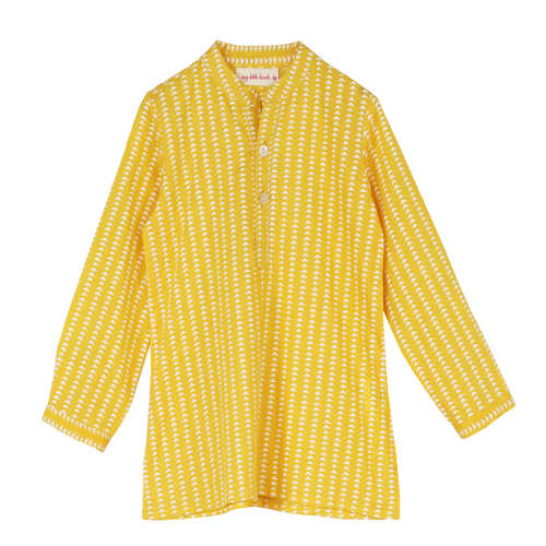 Yellow Trai Boy's Kurta