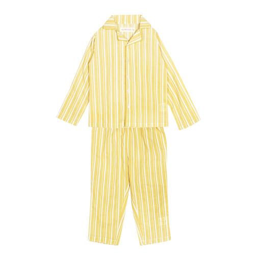 Zig Zag Stripe Yellow Night Suit
