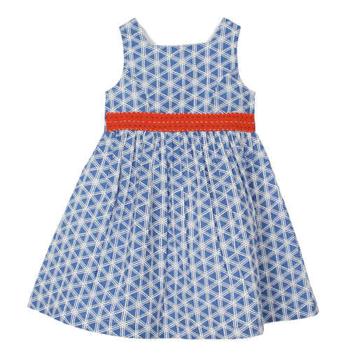 Girls Blue Geo Dress