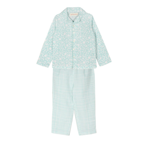 Jasmine Night Suit Blue