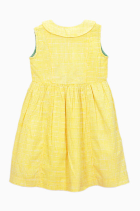Alisha Dress Yellow Check