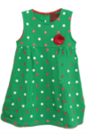 Dot Dress Green