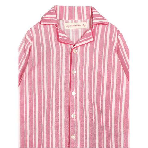 Zig Zag Stripe Pink Night Suite.