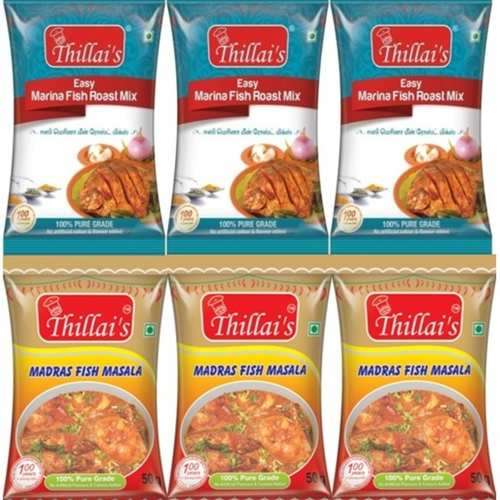Thillai's Fish Masala 300gms( Easy Marina fish roast mix, Easy Madras Fish masala )