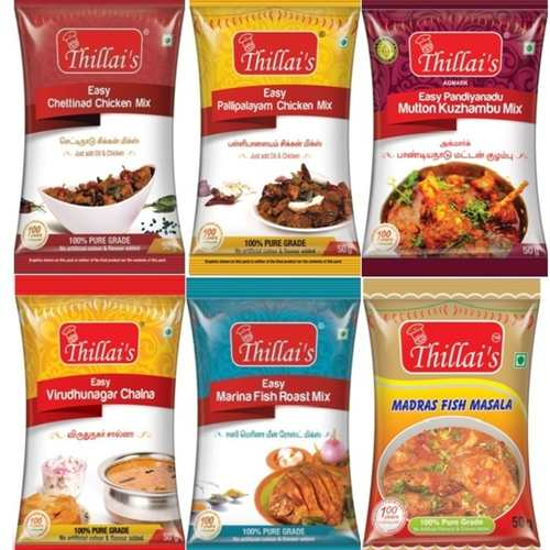 Thillai's Traditional Non-veg  Masala Combo pack300g(Easy Chettinad chicken mix, Easy Kongu style chicken mix, Easy Mutton Kulambu Mix, Easy Mirchika salna mix, Easy Fish Roast mix, Easy Madras Fish Masala )Easy 3 steps