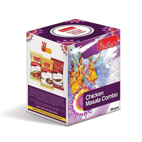 Thillais Chicken Spicy Masala Combo-Easy Chickrn65 Mix,Easy Pallipalayam Chicken Mix,Easy Chettinad Chicken Mix