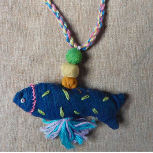 Fish Bag Tag - Blue